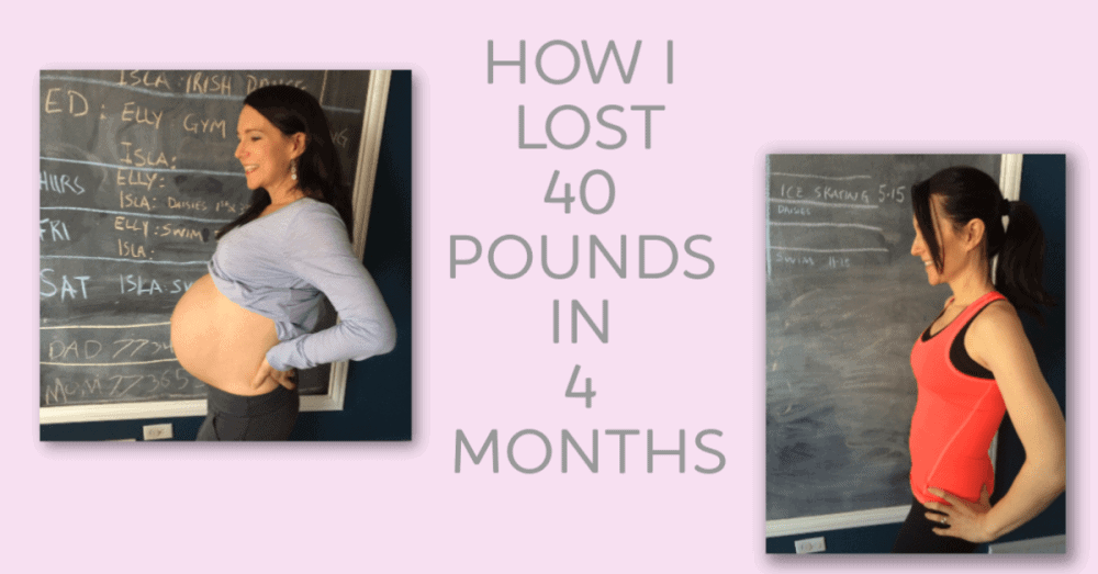 How I Lost 40 Pounds of Pregnancy Weight Gain in Less Than 4 Months