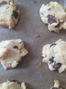 grain free ccc on cookie sheet
