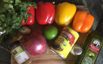 Southwestern Veggie Salad With Cilantro Lime Detox Dressing