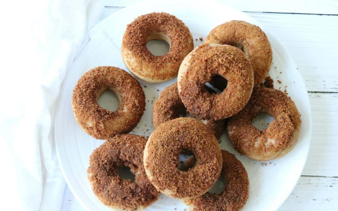 Cinnamon Sugar Donuts (Baked + Gluten Free)