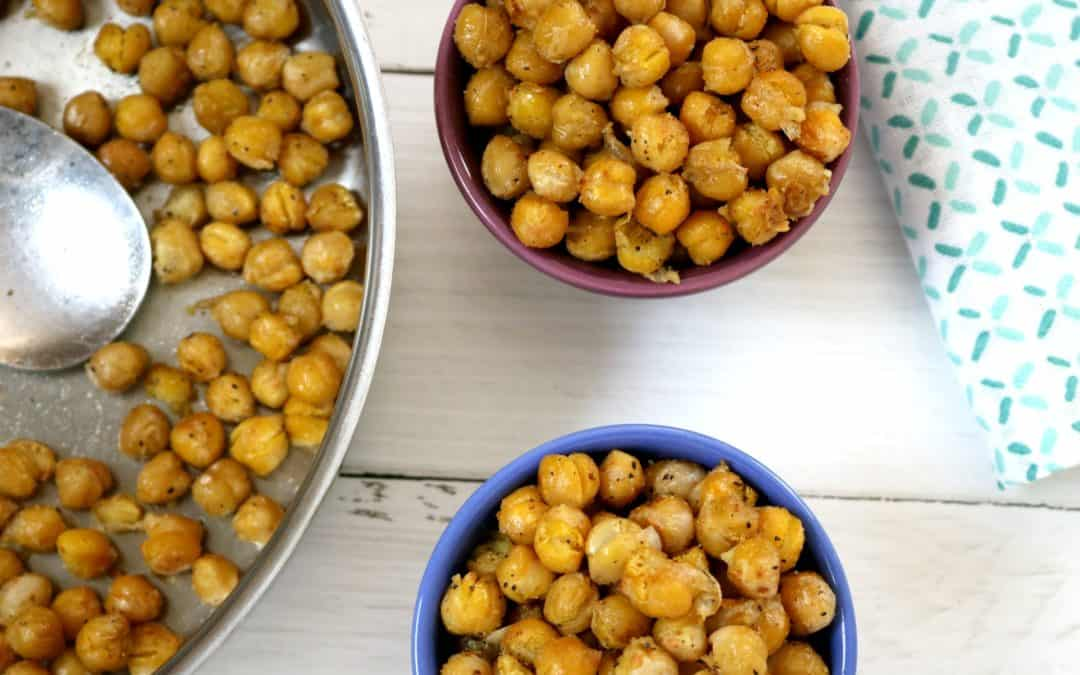 Slightly Spicy Crispy Chickpeas (make them in 10 minutes)