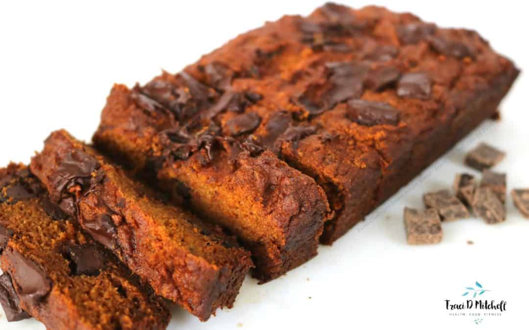 Paleo Chocolate Sweet Potato Bread (gluten and dairy free)