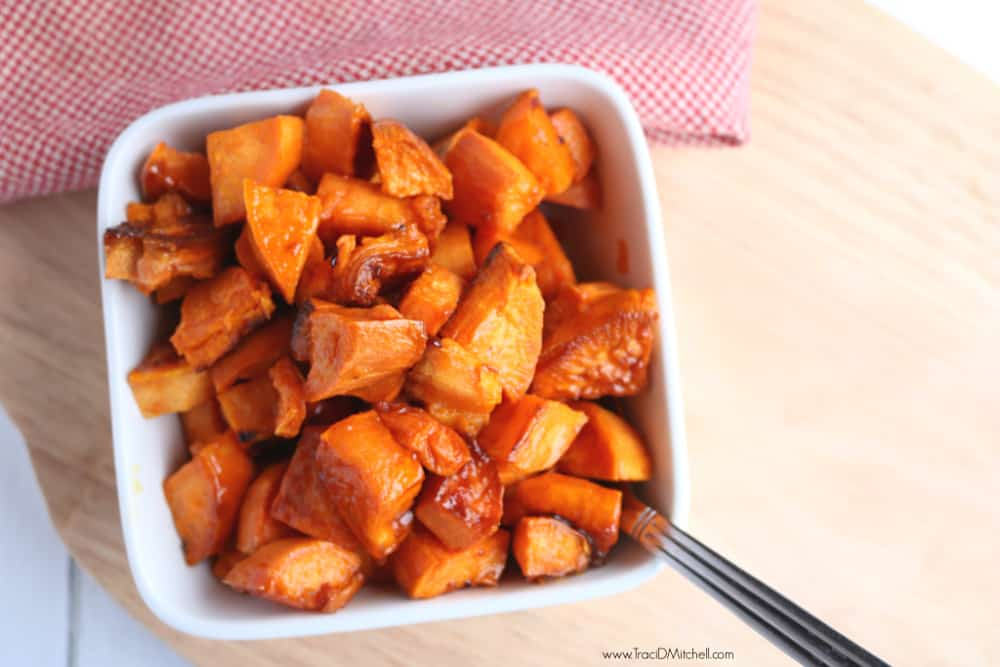 Roasted Sweet Potatoes with Caramelized Maple + Sea Salt