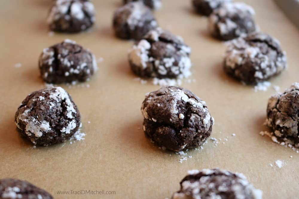 grain free chocolate crinkle cookies