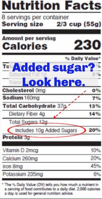Added Sugar Nutrition Facts