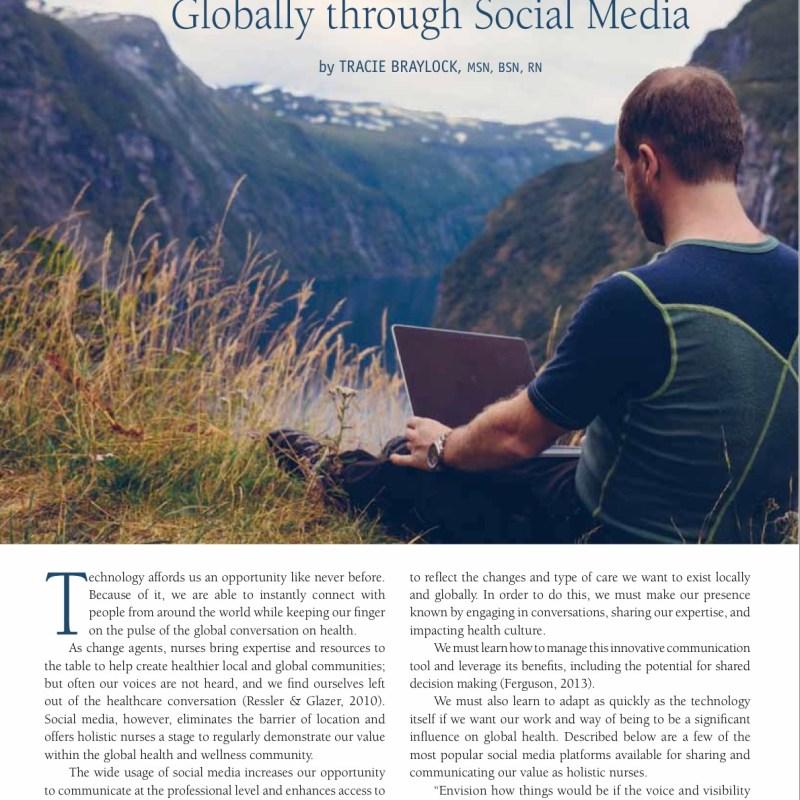 Holistic Nurses Sharing Our Value Globally through Social Media