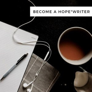 Become a Hope*Writer | Tracie Braylock