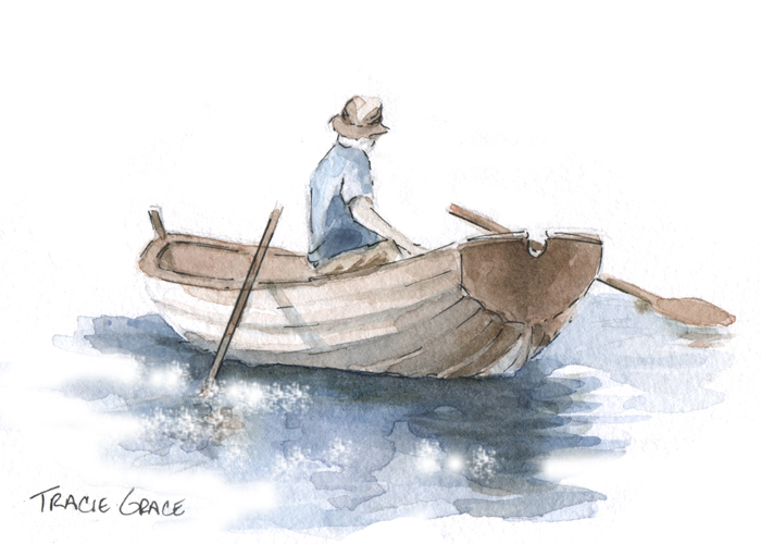 Watercolor Class: The Fisherman