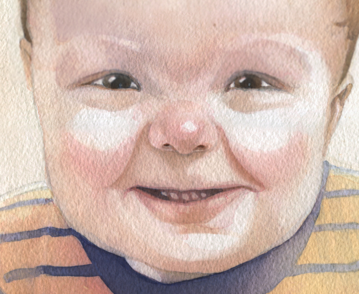 Watercolor Baby Portrait – James