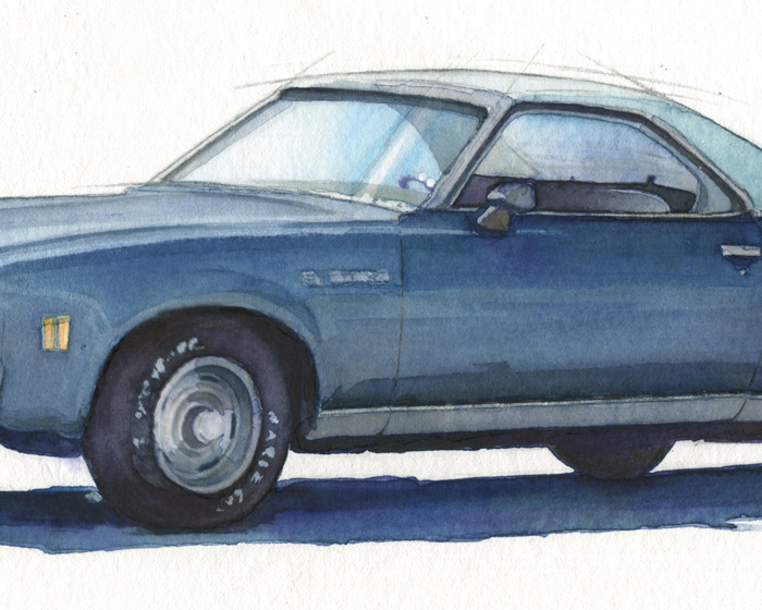 El Camino Watercolor