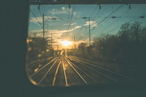 TraciElaine.com Philadelphia | Sunset from the Train