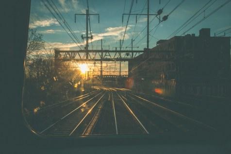 Philadelphia | Sunset from the Train