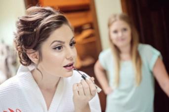 Making Beautiful Hair and Makeup Bride