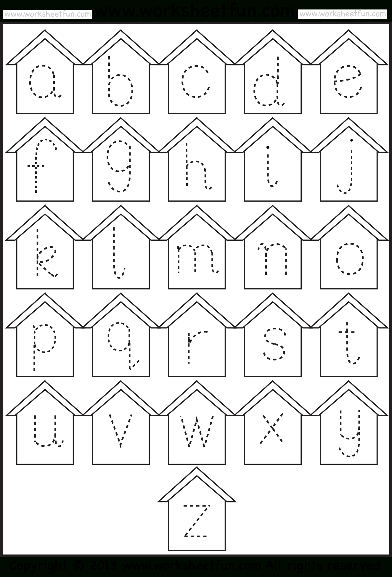 Tracing Small Letter A Worksheet