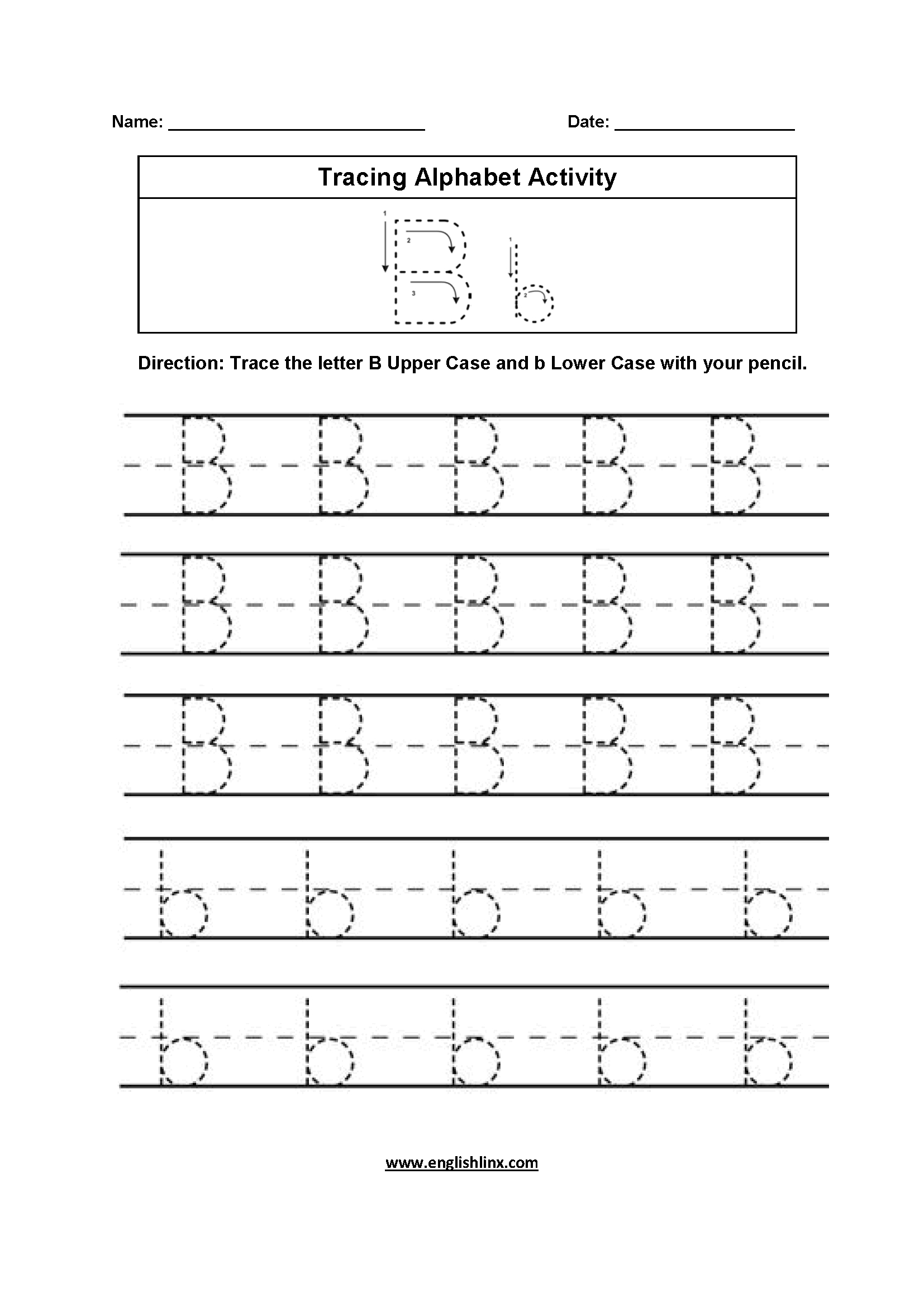 Tracing Abc Letters