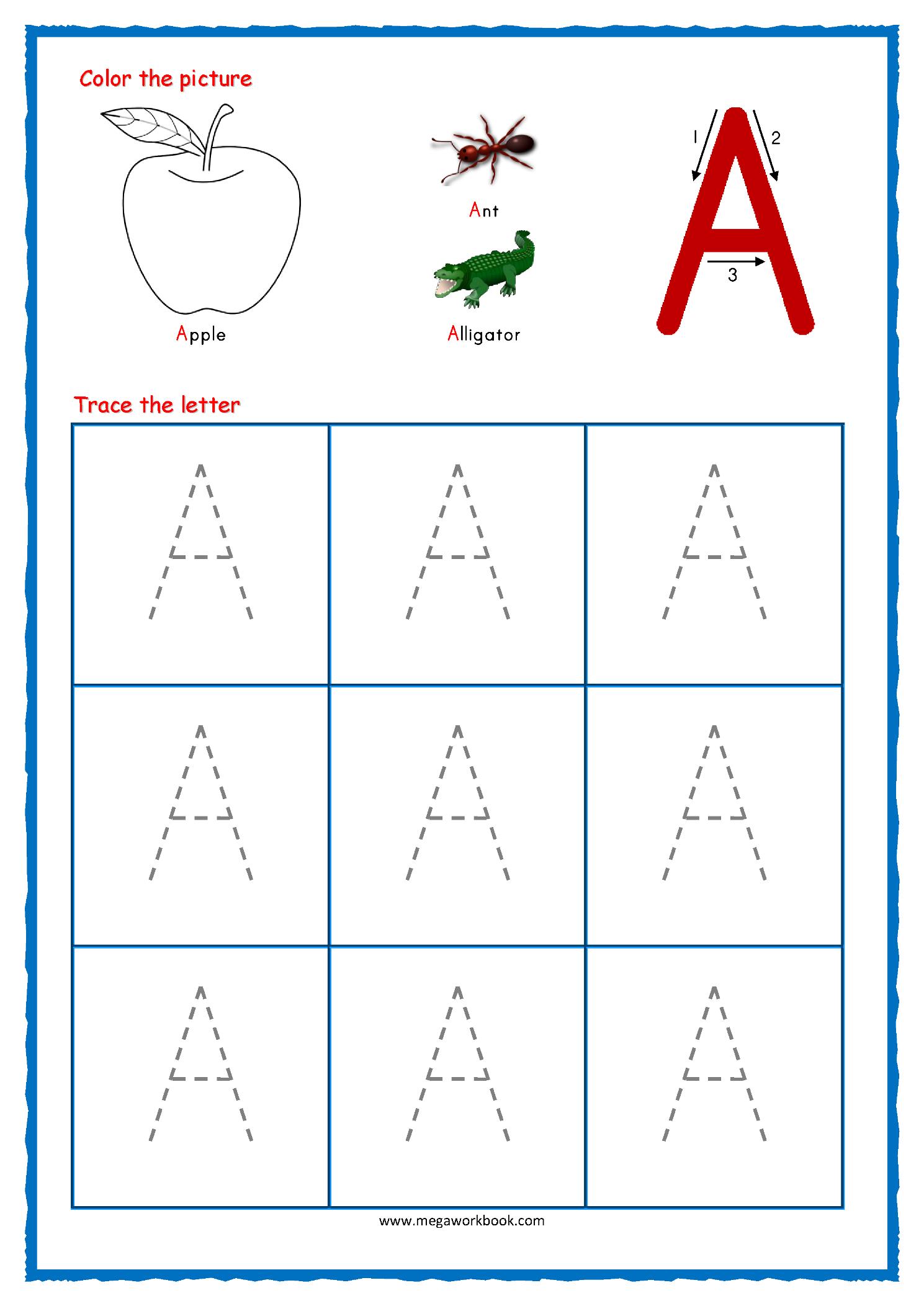 Letter Tracing Worksheets Uppercase