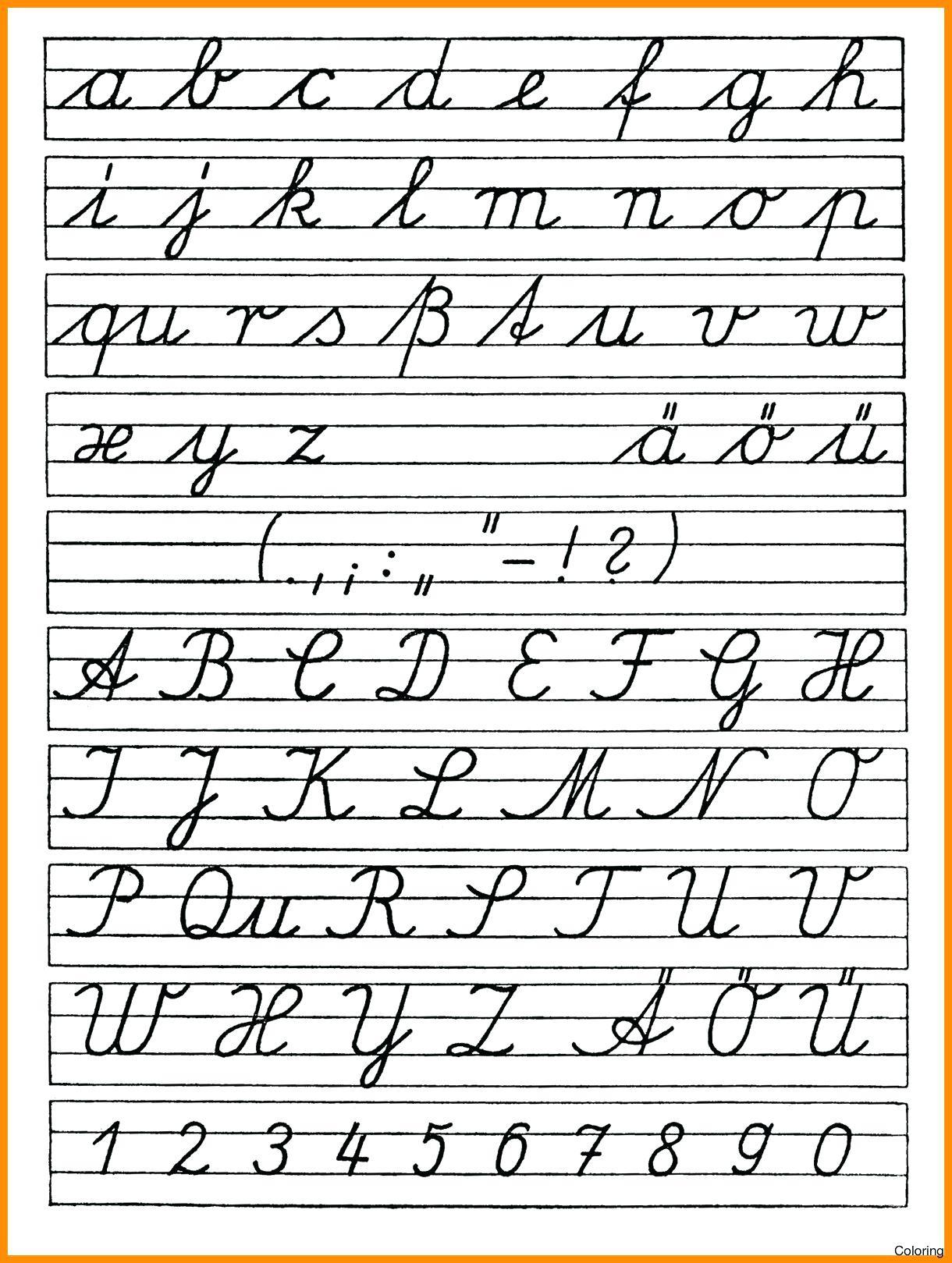Abc Tracing Cursive Letters