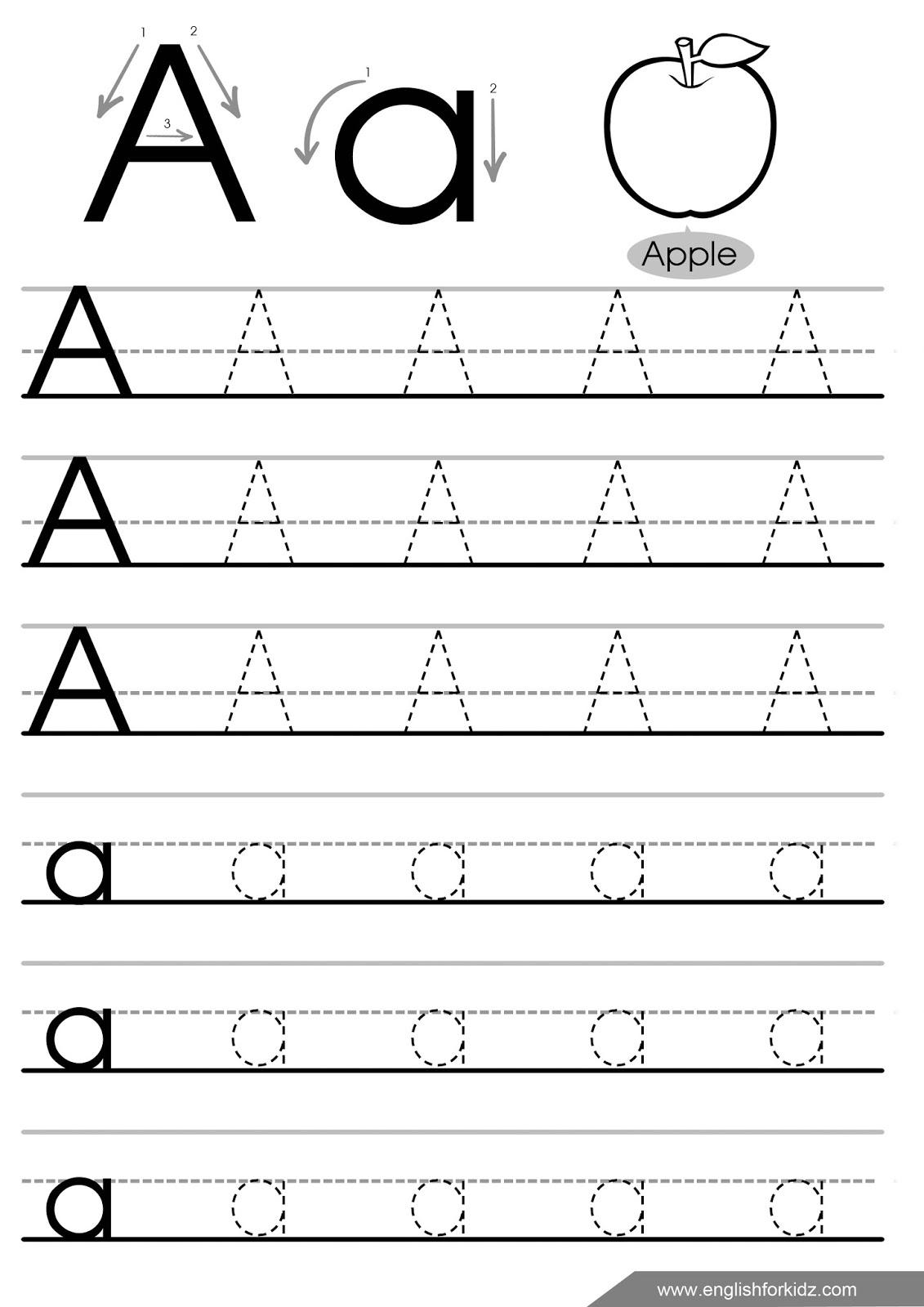 Preschool Tracing Worksheets Letters
