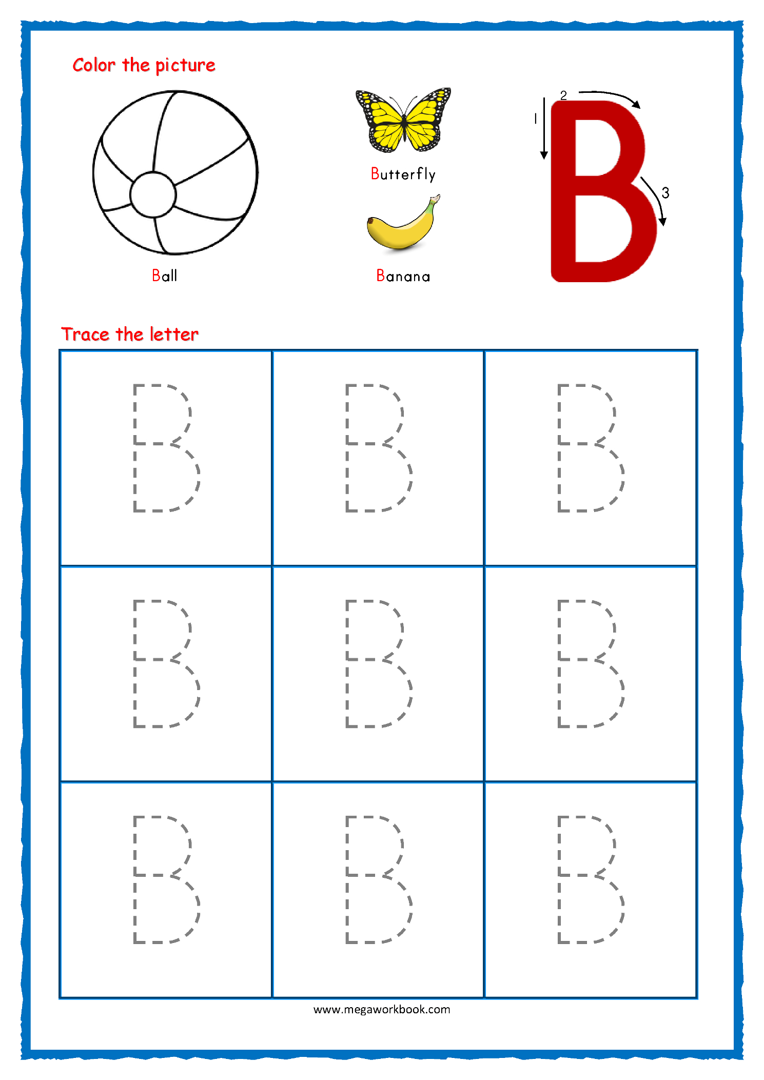 Preschool Tracing Letters Worksheets Free