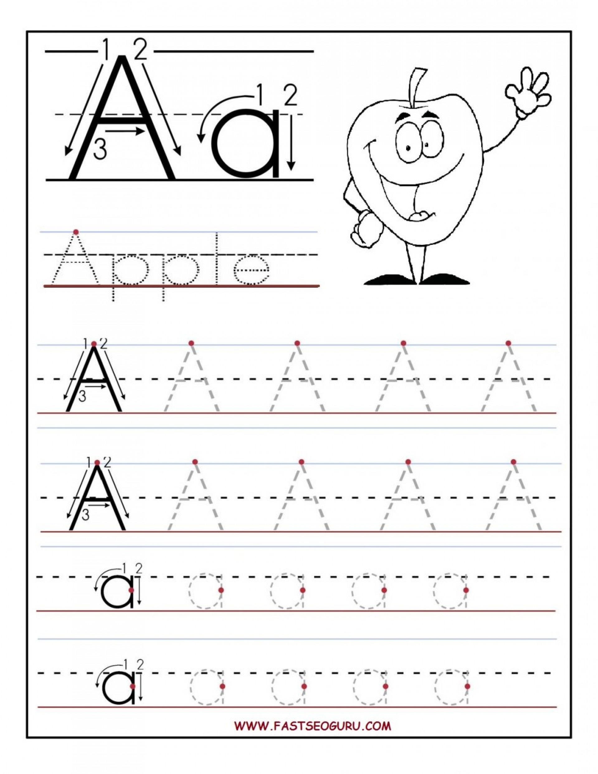 Tracing Letters Worksheets Make Your Own