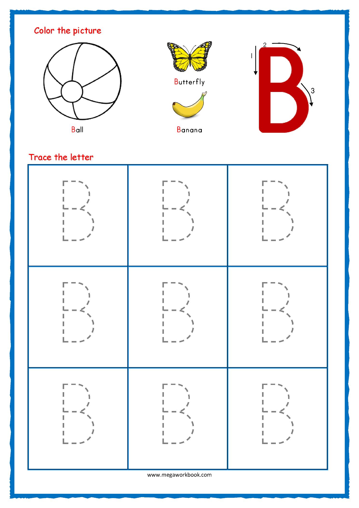 Trace Large Letter F Worksheet For Preschoolers