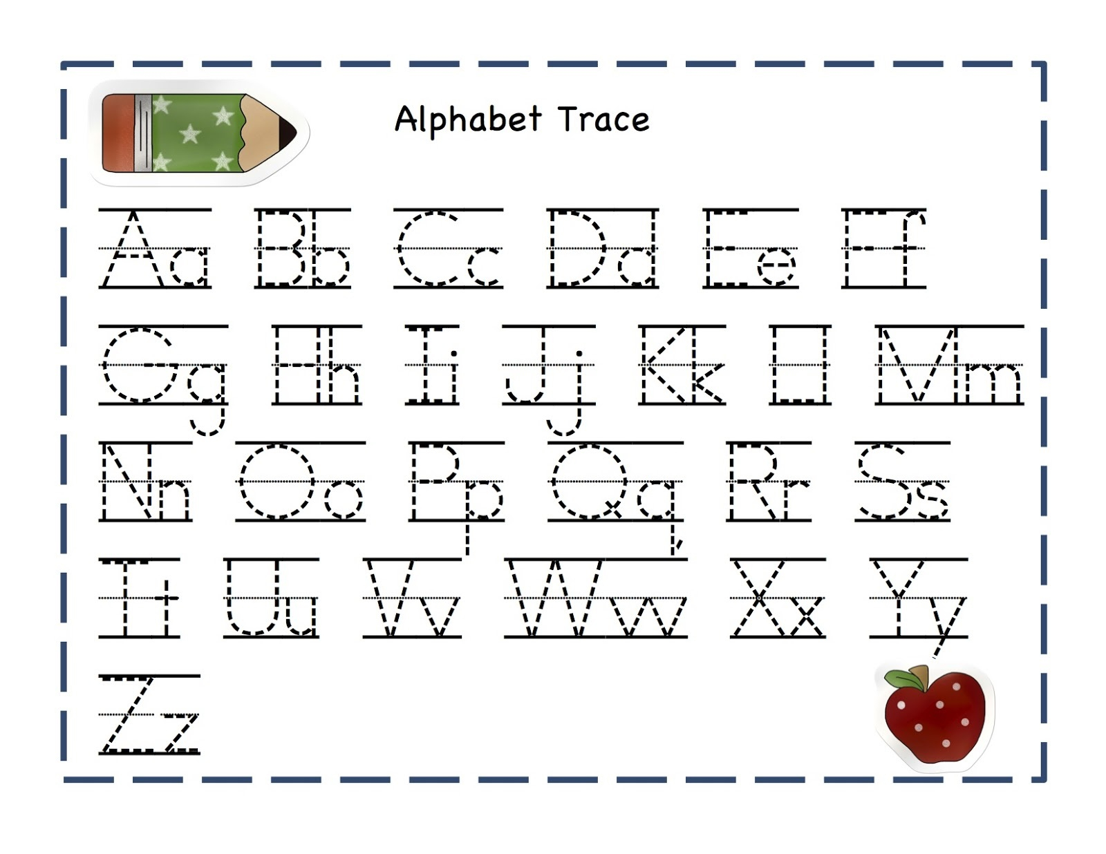 Tracing Letters A Worksheets