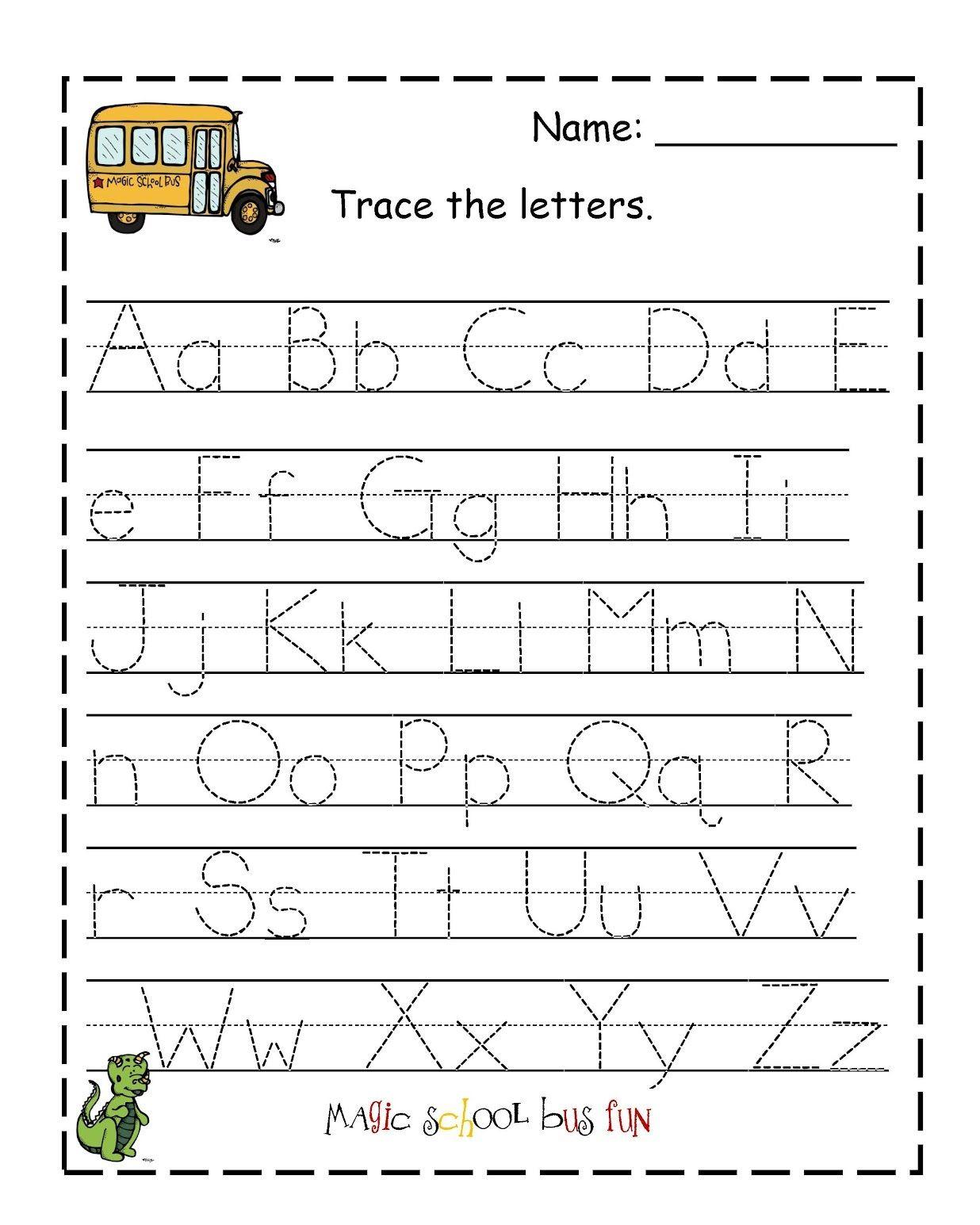 Tracing Letters Worksheets Preschool
