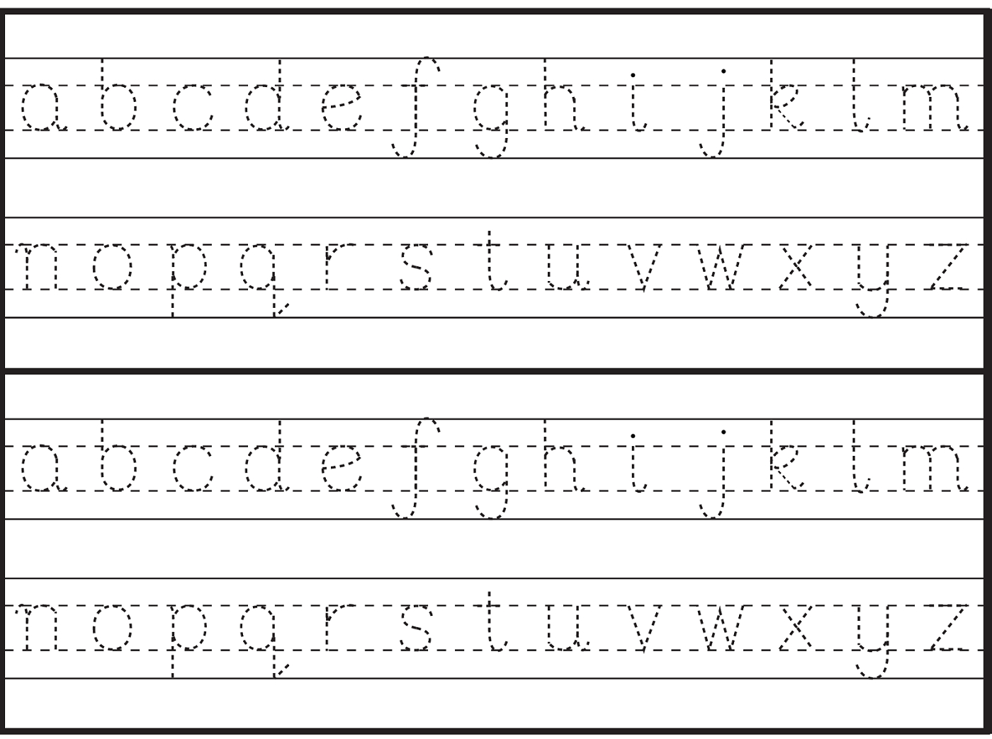 English Letters Tracing Worksheets