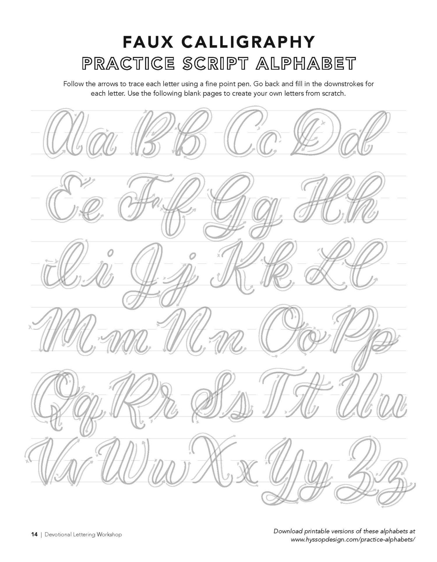 Printable Tracing Letters Make Your Own