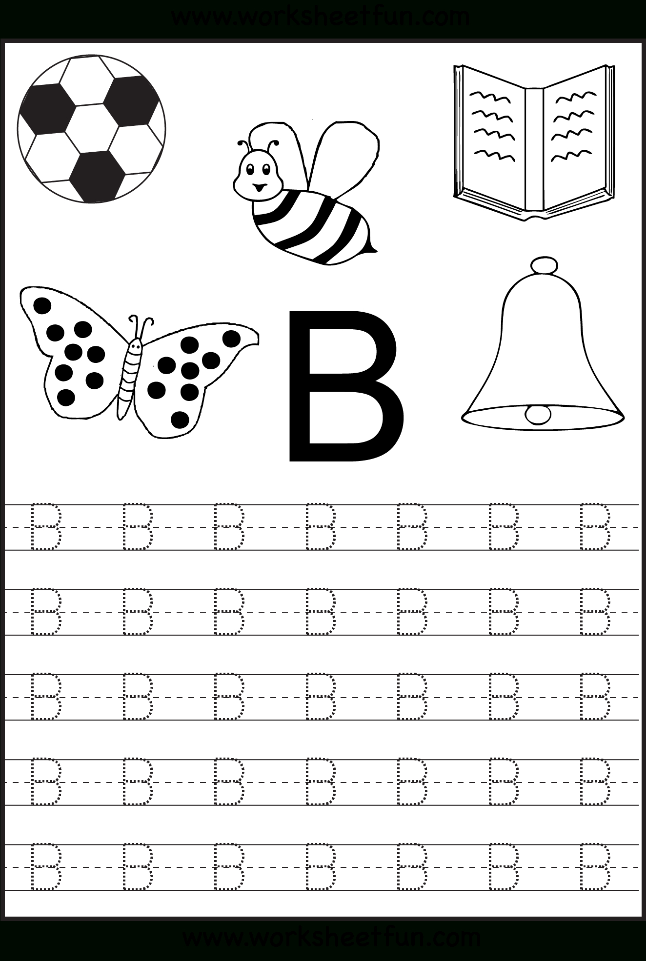 Trace Letter B Worksheets Preschool