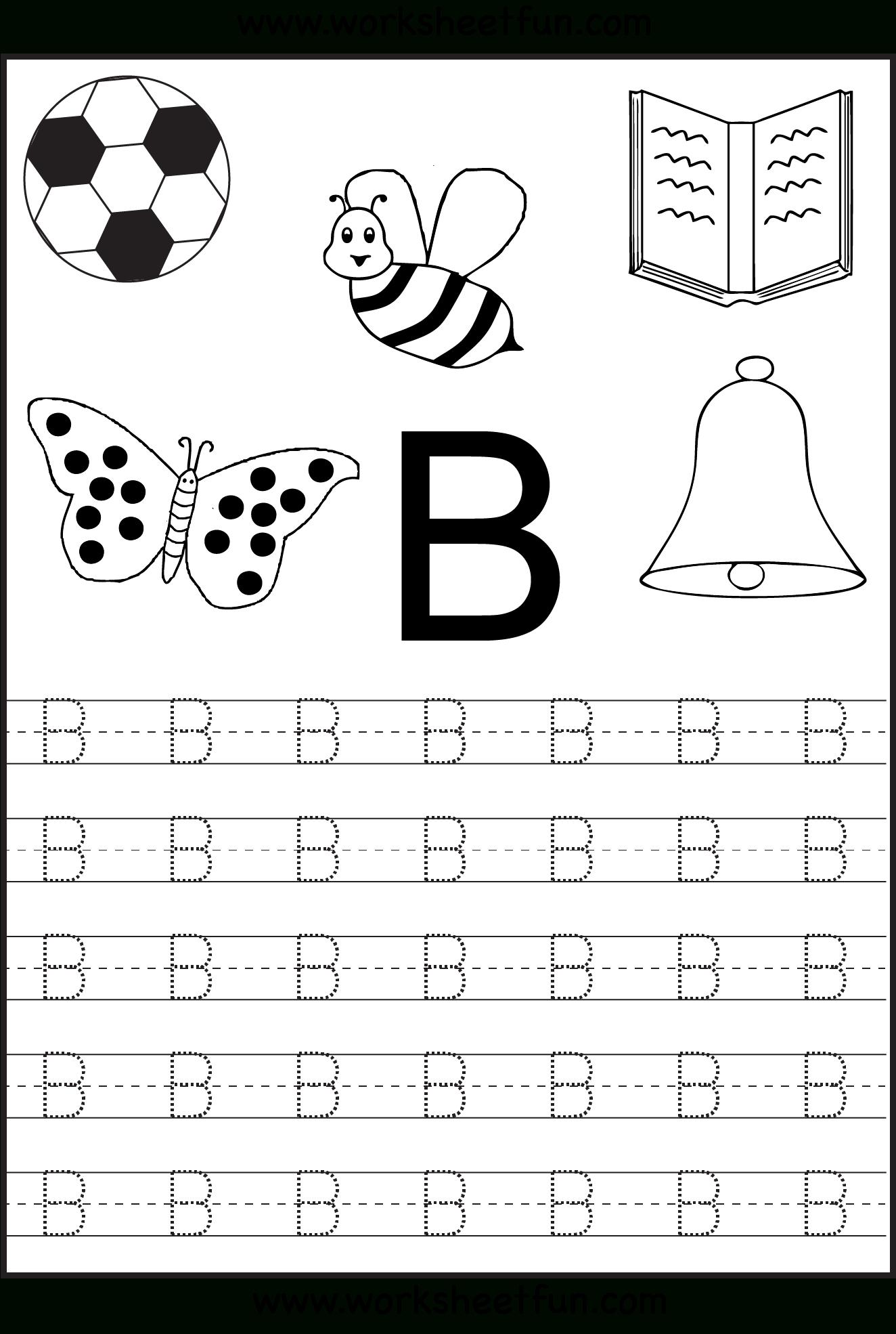Preschool Tracing Letters Worksheets Free