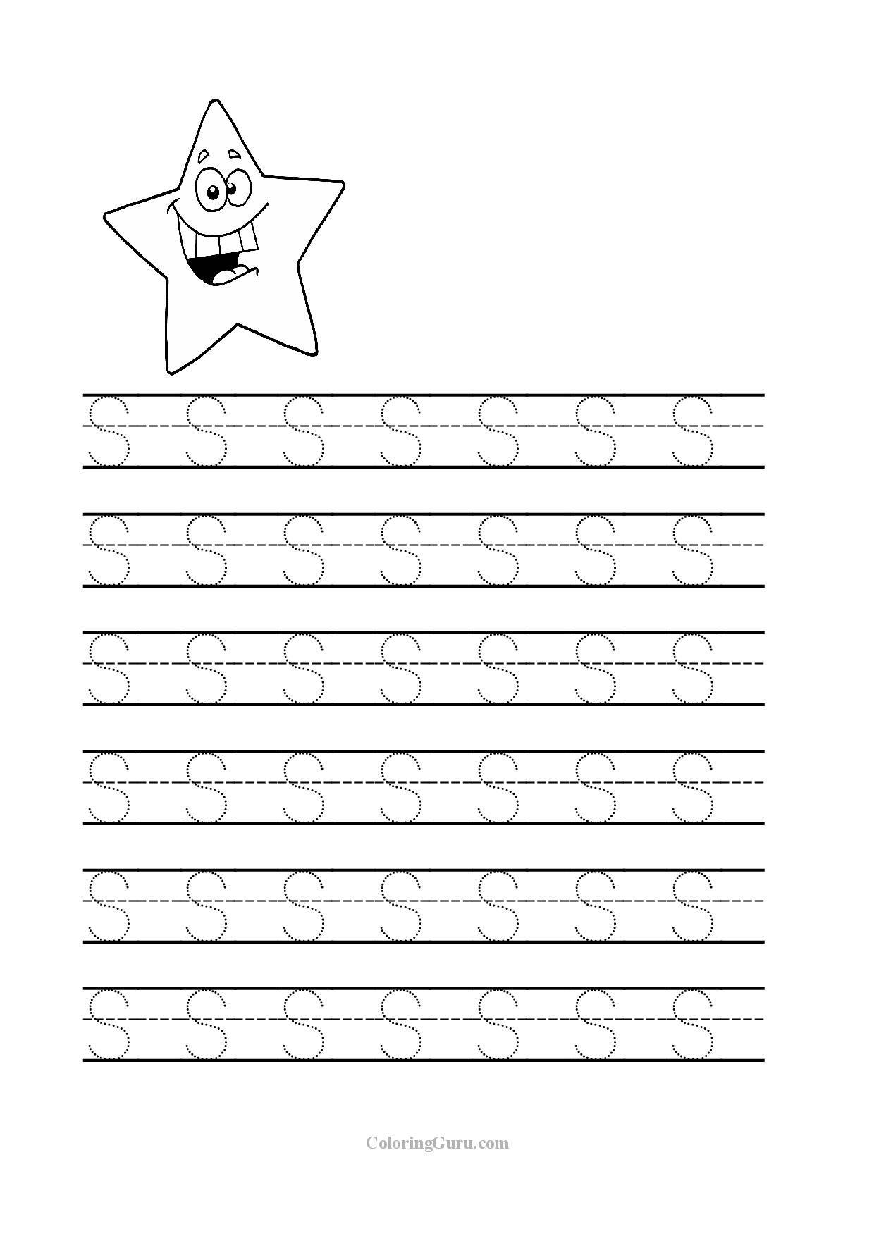Tracing Letters Kindergarten Sheets
