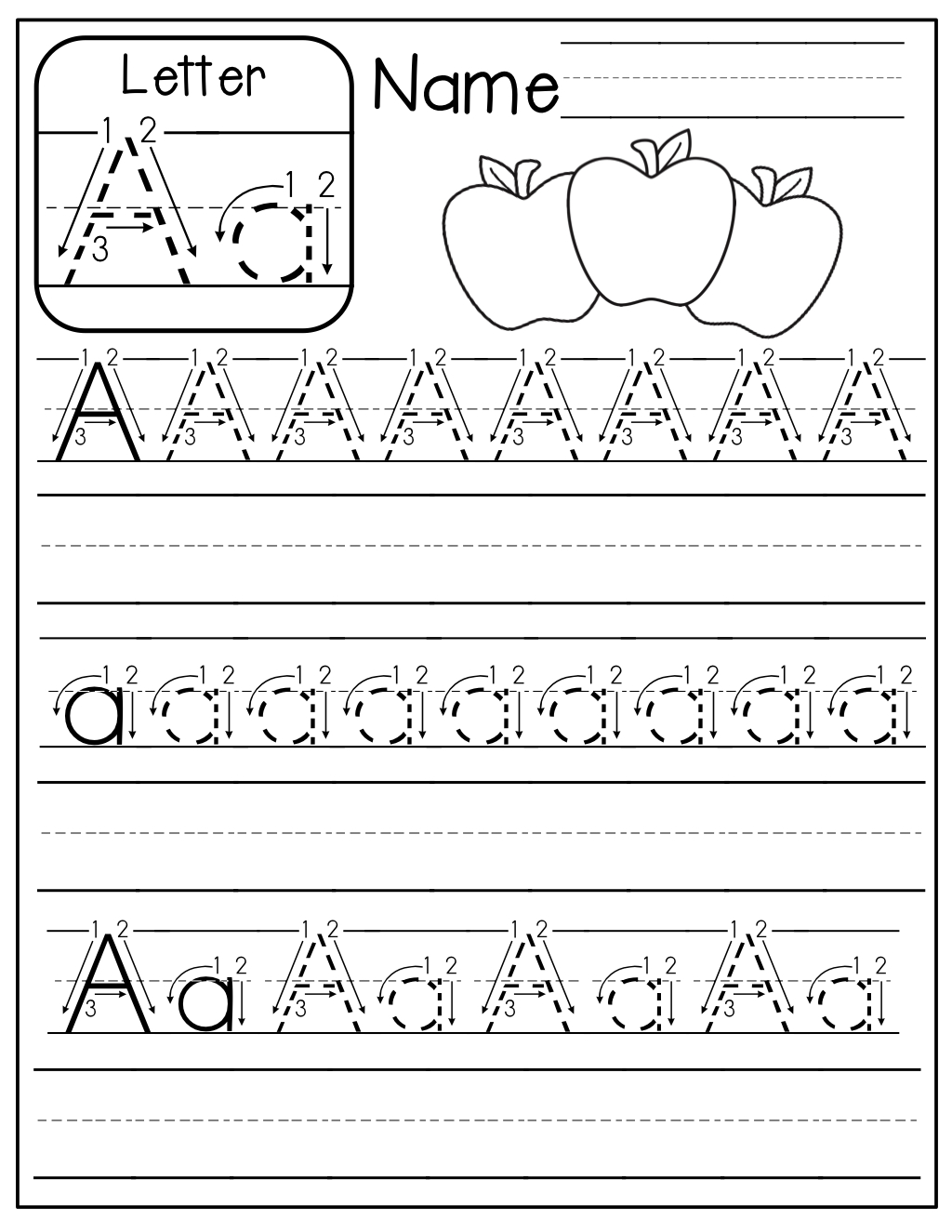 Free Tracing Letters Worksheet A Z