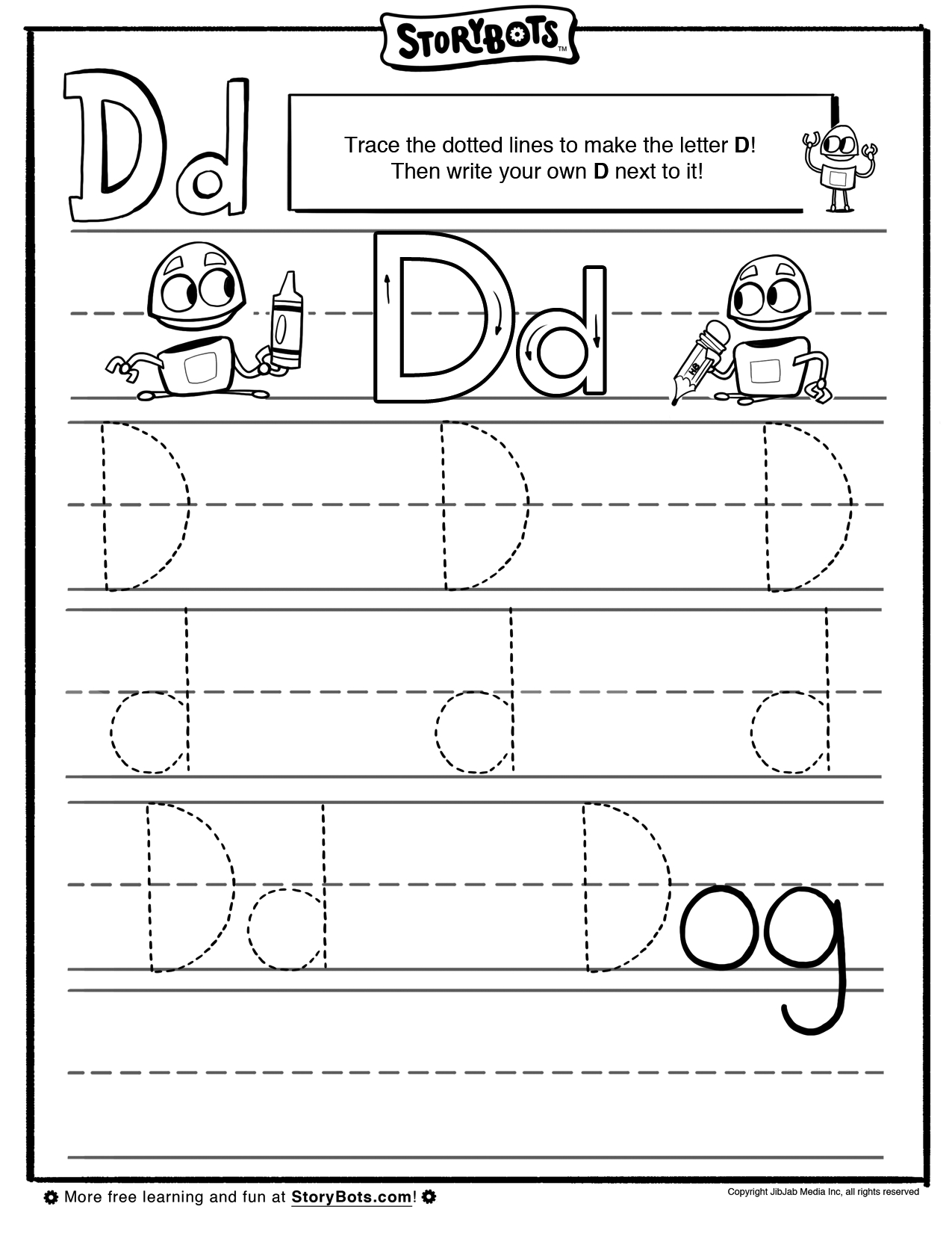 Dotted Line Letters For Tracing
