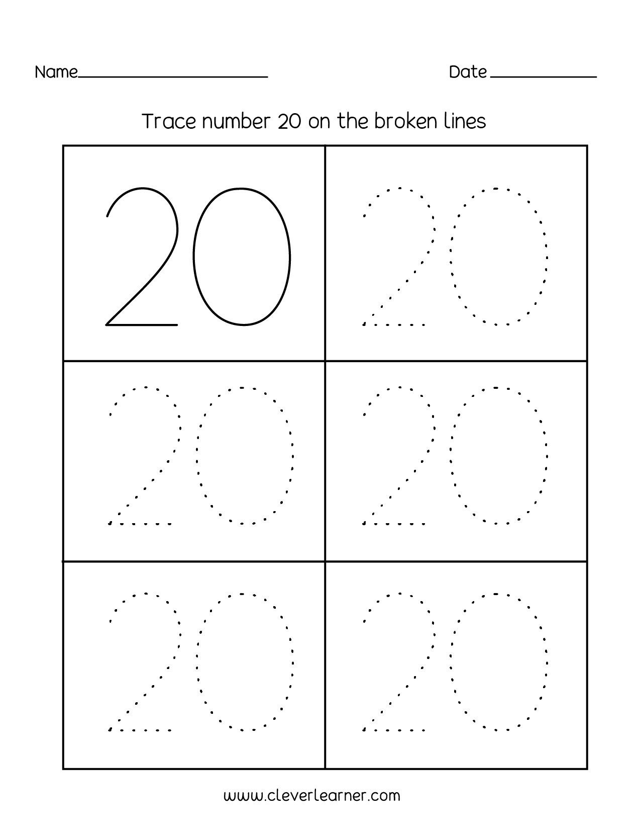 Tracing Letters And Numbers For Toddlers