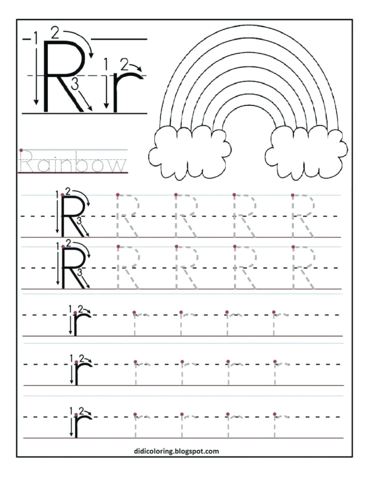 Cursive Tracing Worksheet N