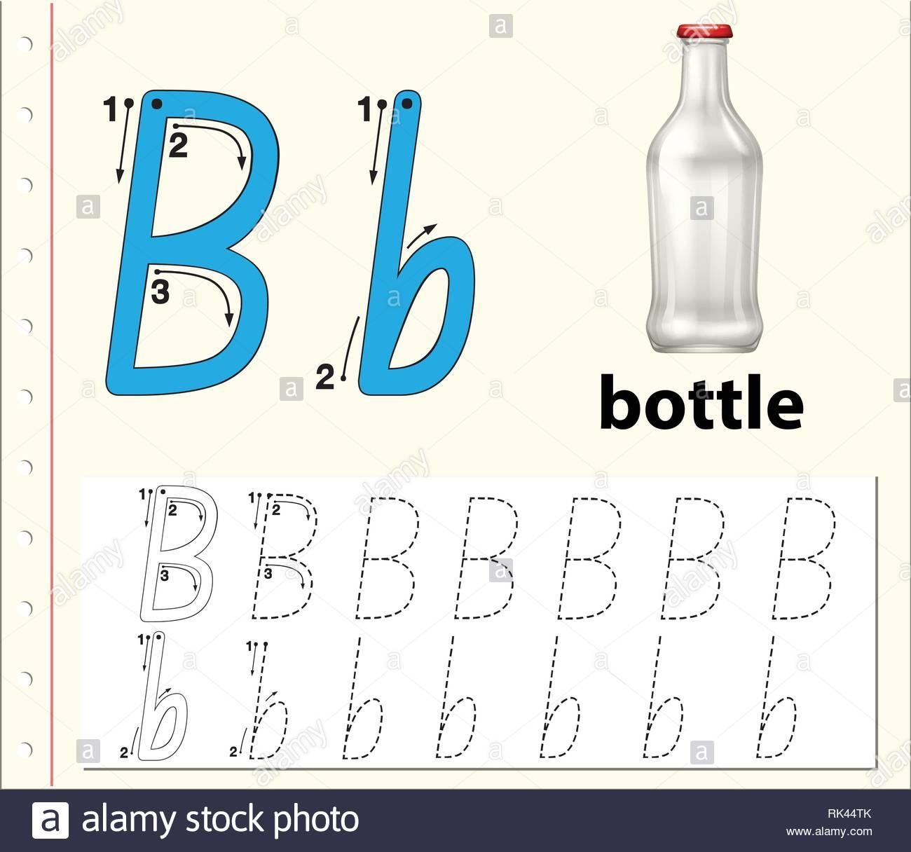 Trace Letter B Worksheets Preschool