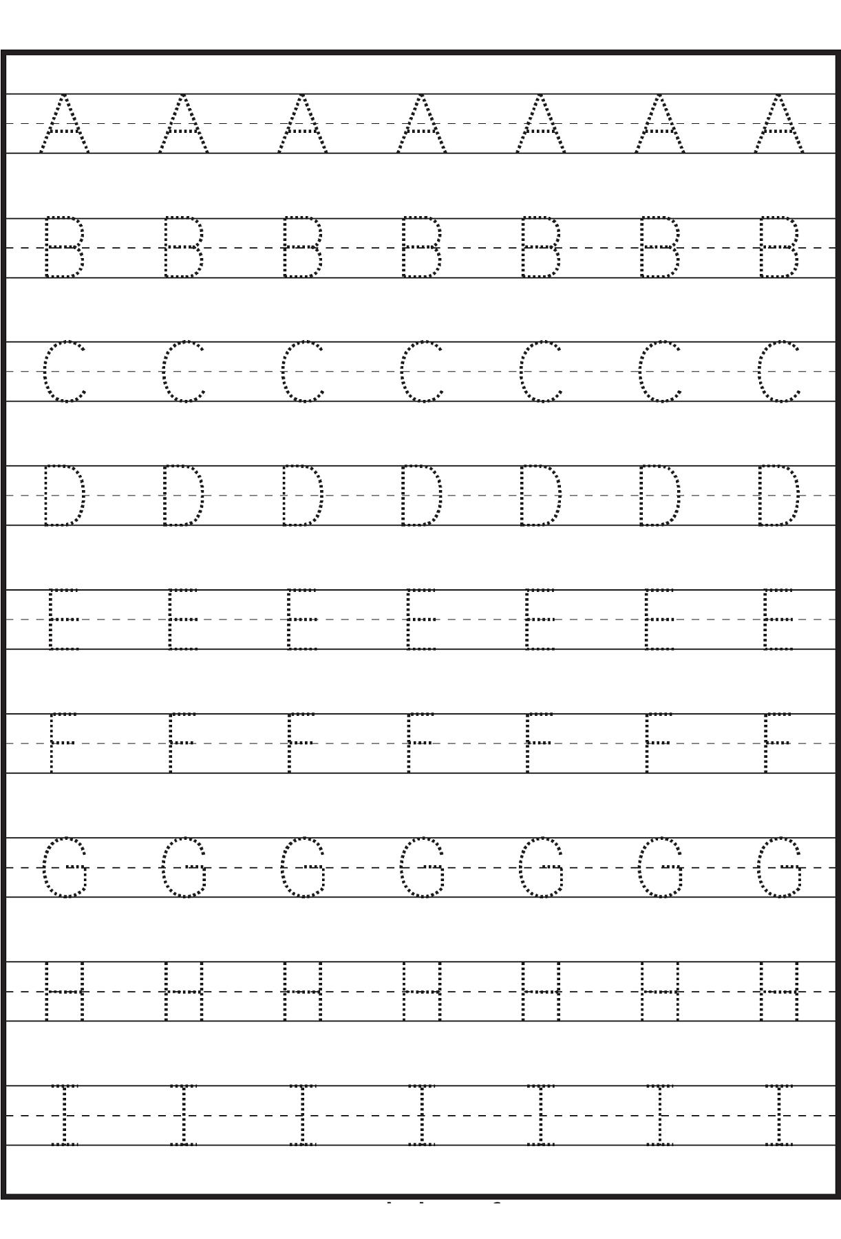 Printable Tracing Letters For Kindergarten