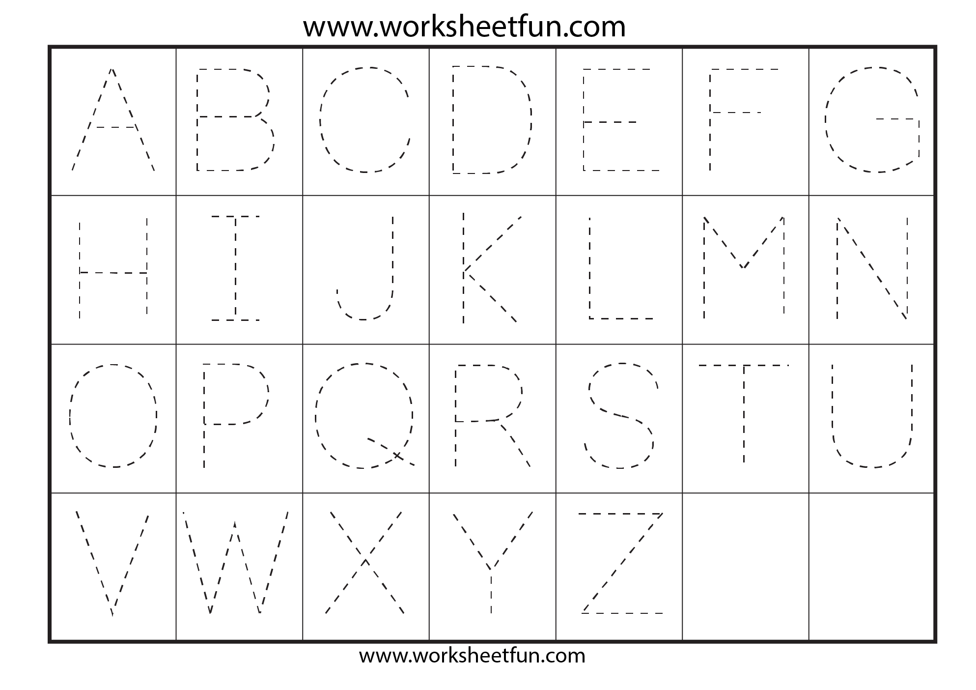 Tracing Capital Letters For Preschool