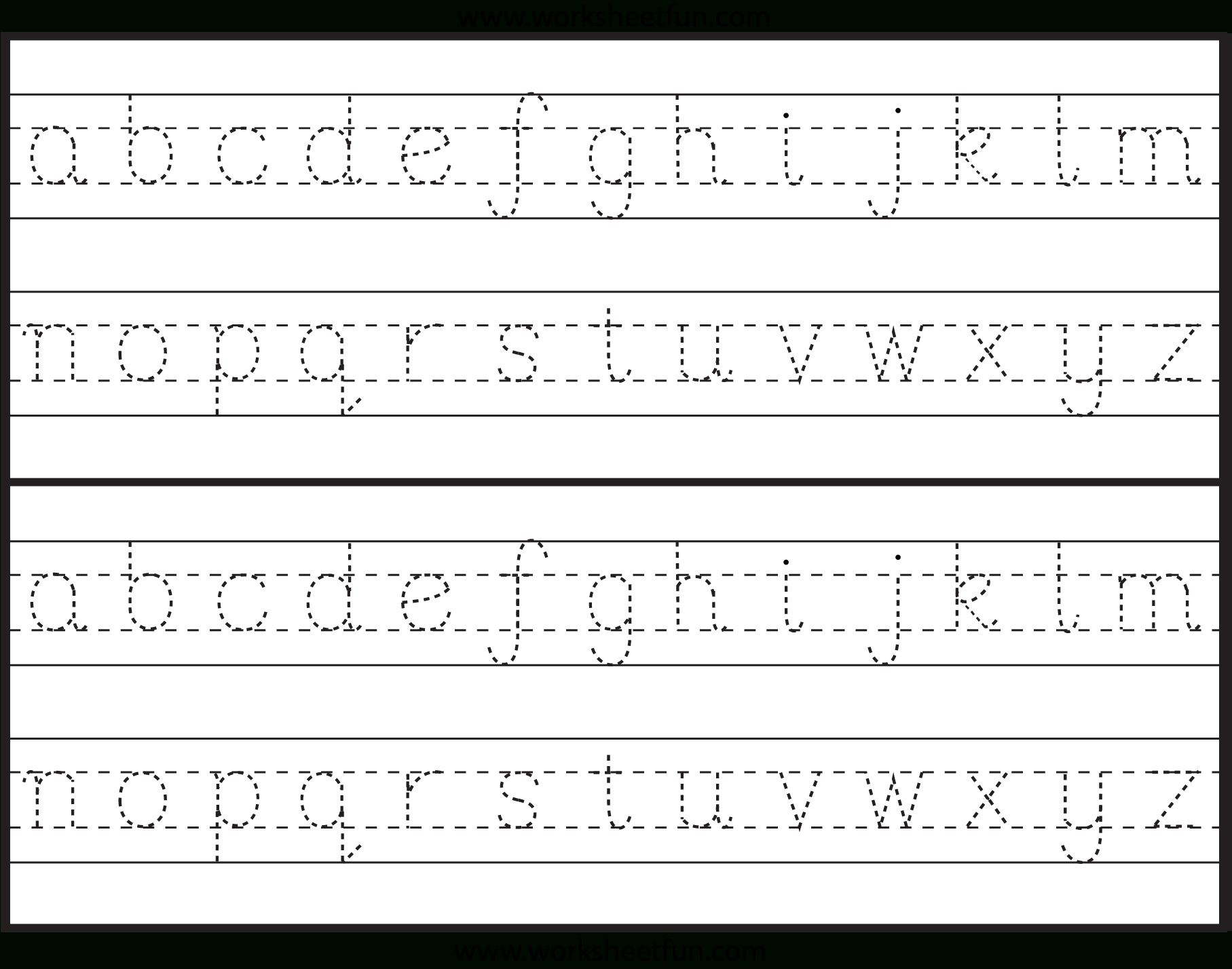 Dotted Letters For Tracing Font