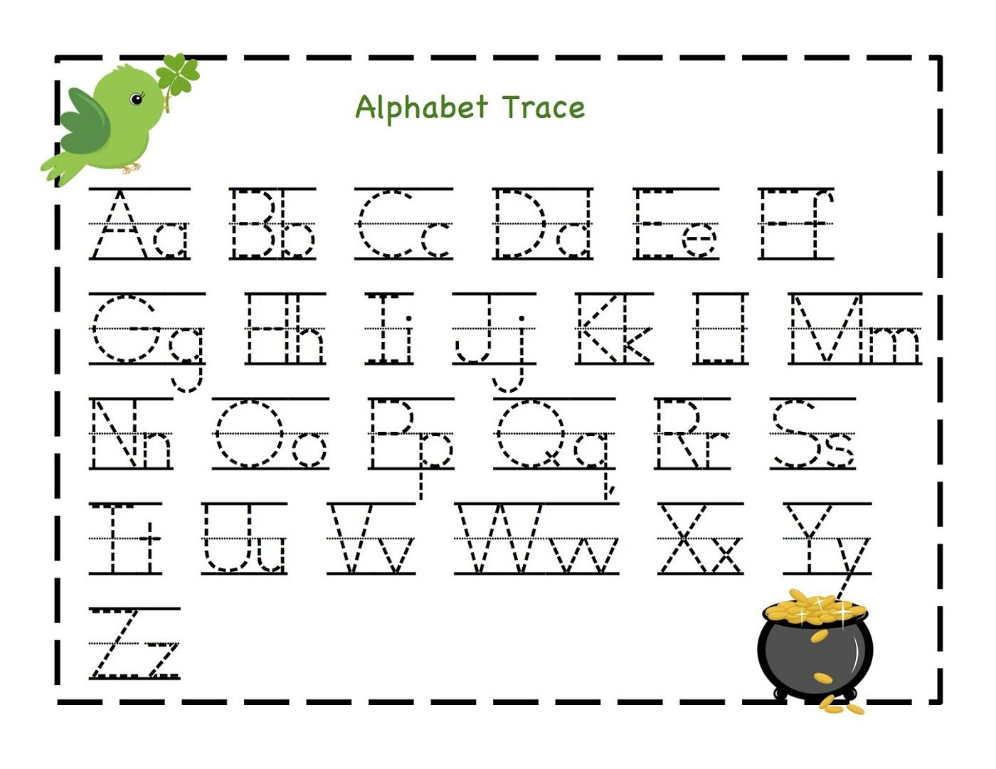 Tracing Letters Worksheets Kindergarten