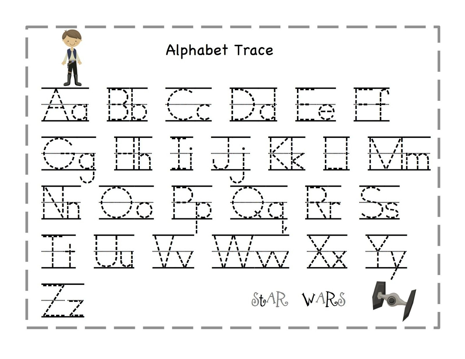 Printable Tracing Letters For Pre K