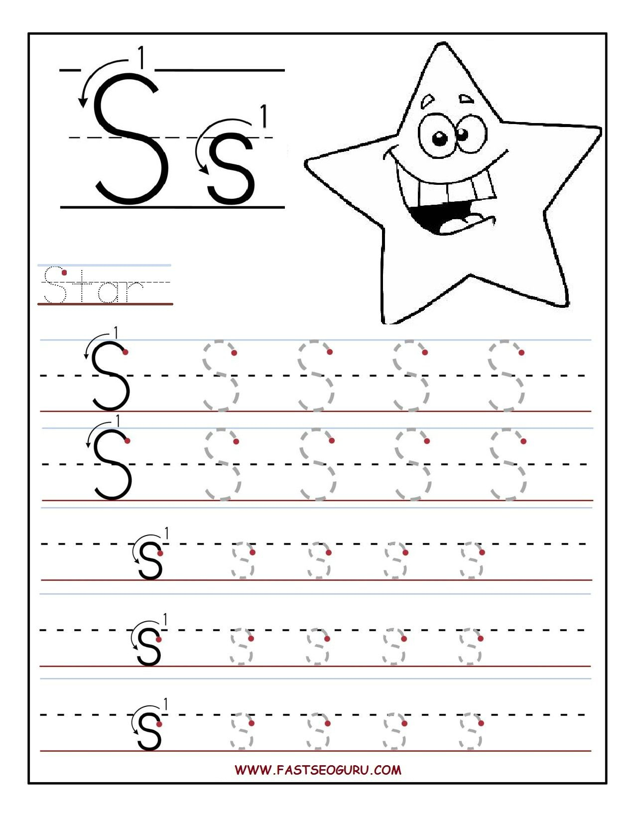 Preschool Tracing Letters Free Worksheets