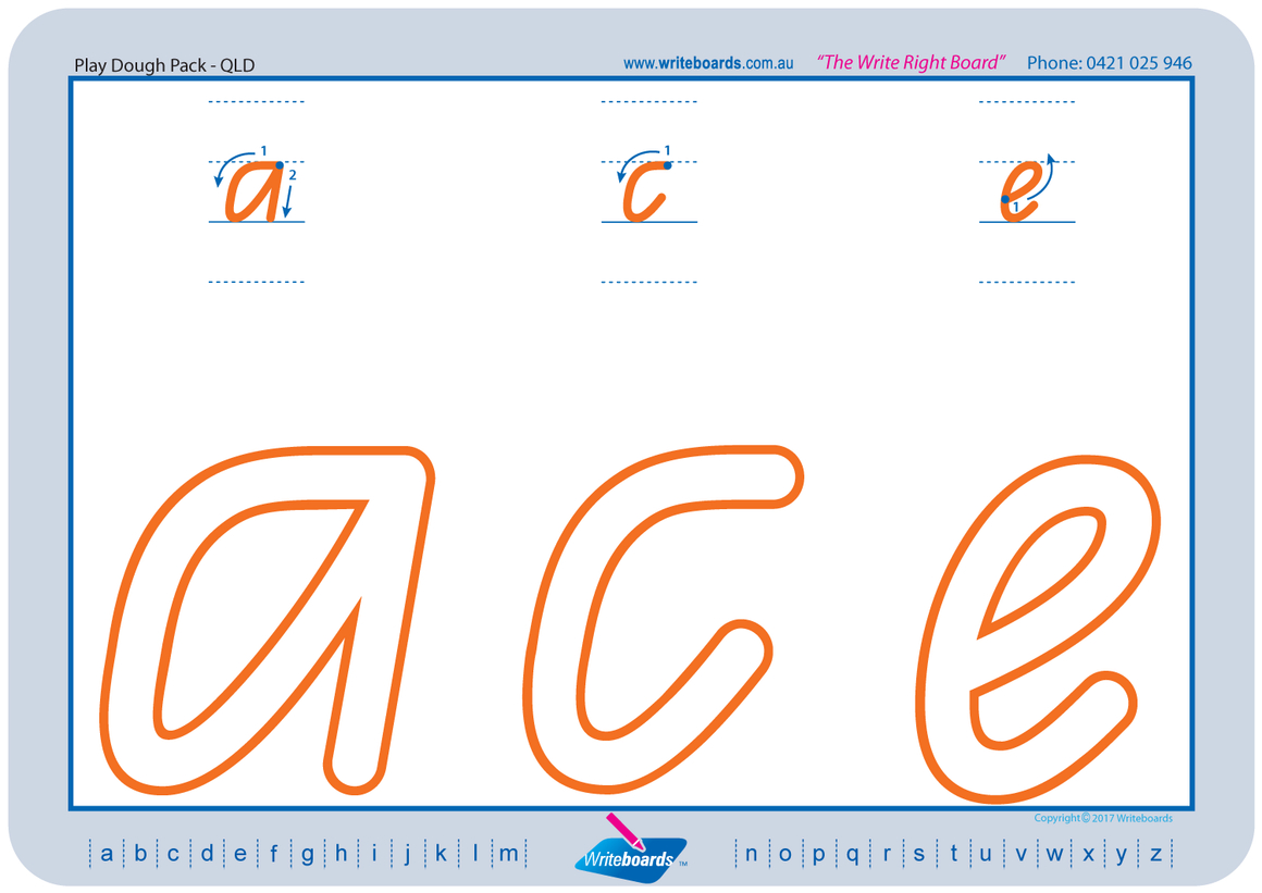 Qld Font Tracing Letters