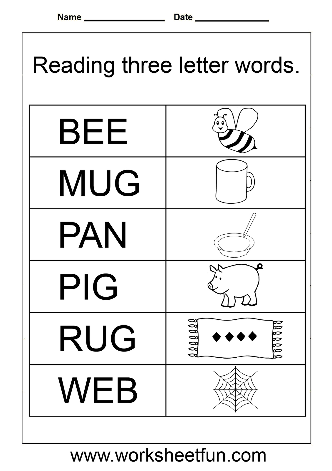 Tracing Letters Words Worksheets