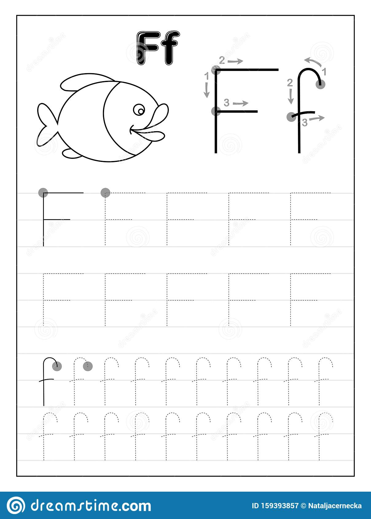 Tracing Letter F Worksheets Preschool
