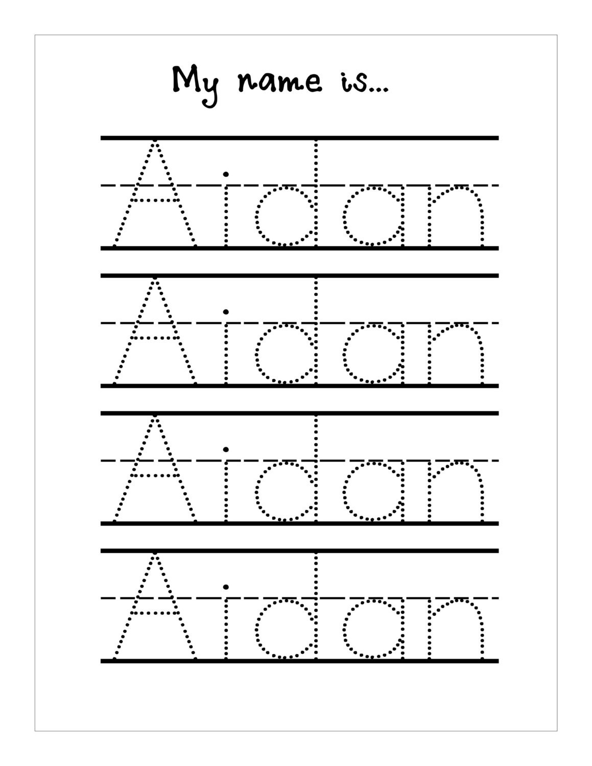 Tracing Letters Worksheets Generator