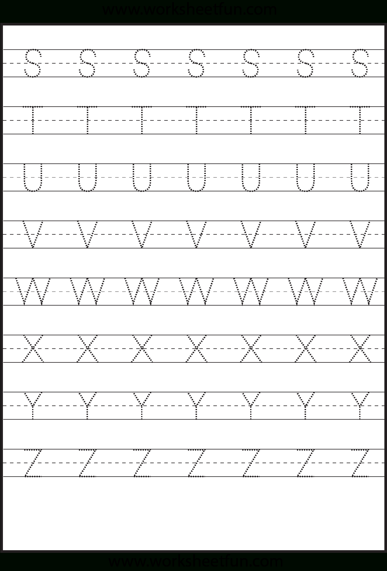 Letter Tracing Worksheets Uppercase