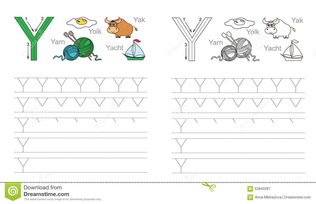 Tracing Letter Y Worksheets