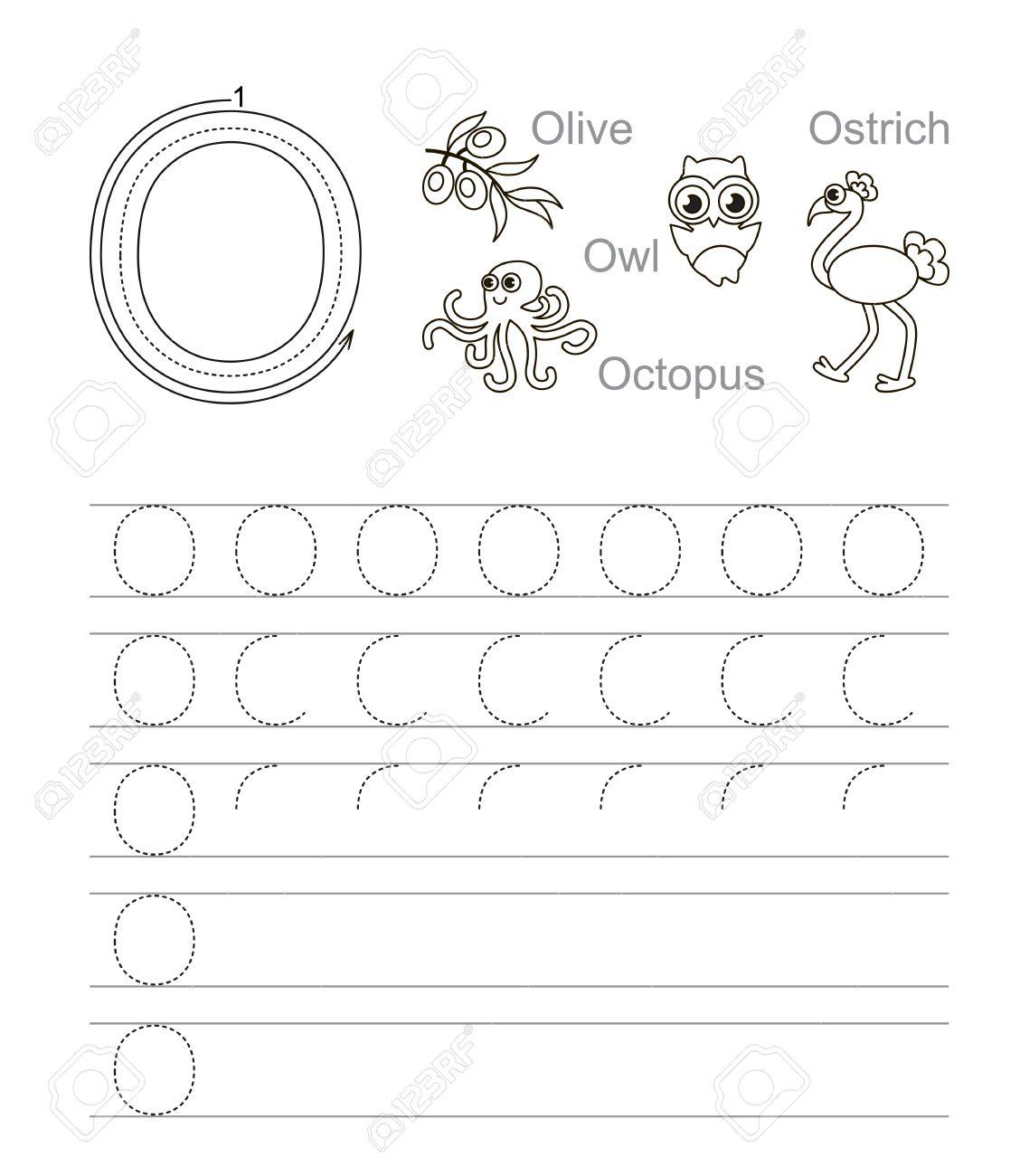 Trace Letter O Worksheets
